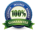 Our 100% Guarantee Graphic - Florida Southern Roofing is licensed, insured and bonded.