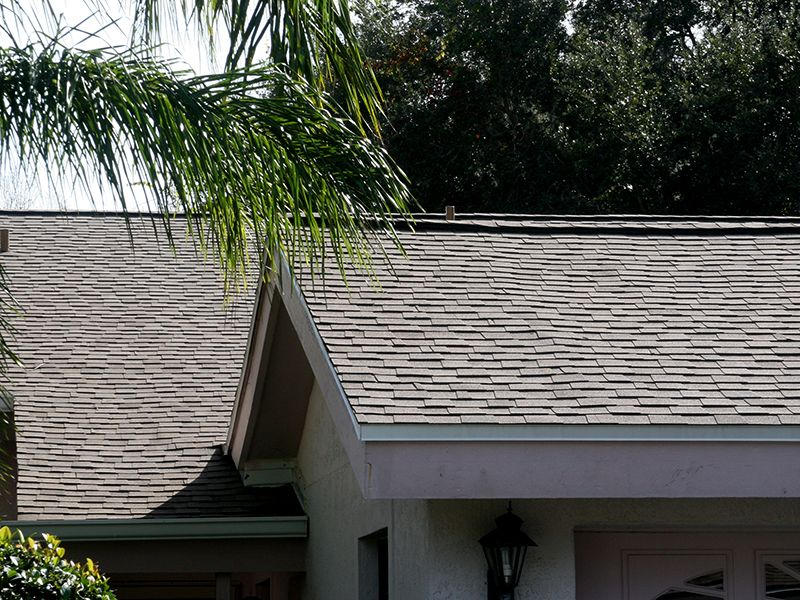 Residential shingle roof by Florida Southern Roofing.
