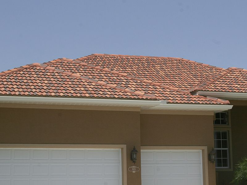 Residential tile roof by Florida Southern Roofing.