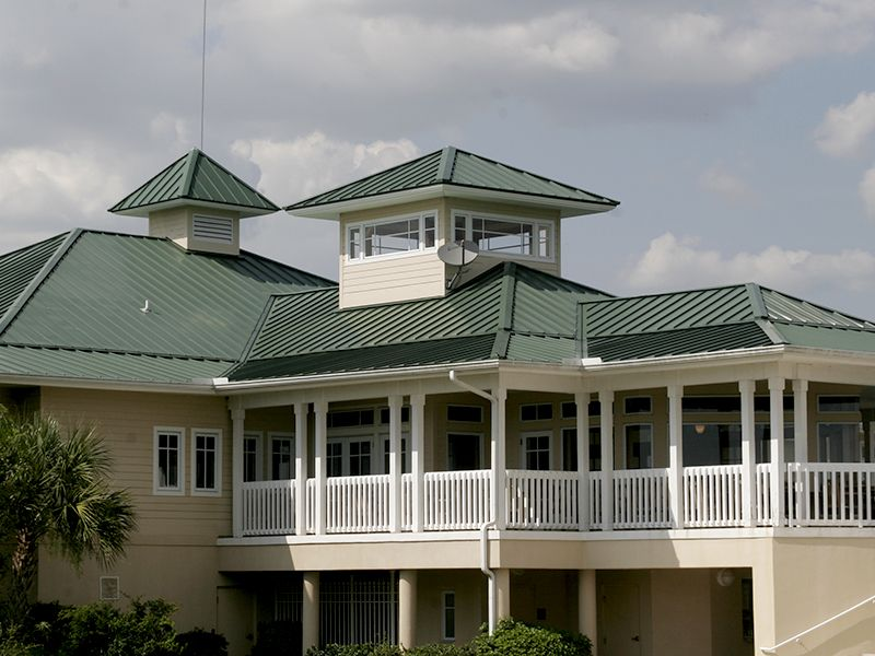 Commercial metal roof  by Florida Southern Roofing.