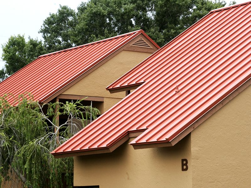 Condominium metal roof by Florida Southern Roofing.
